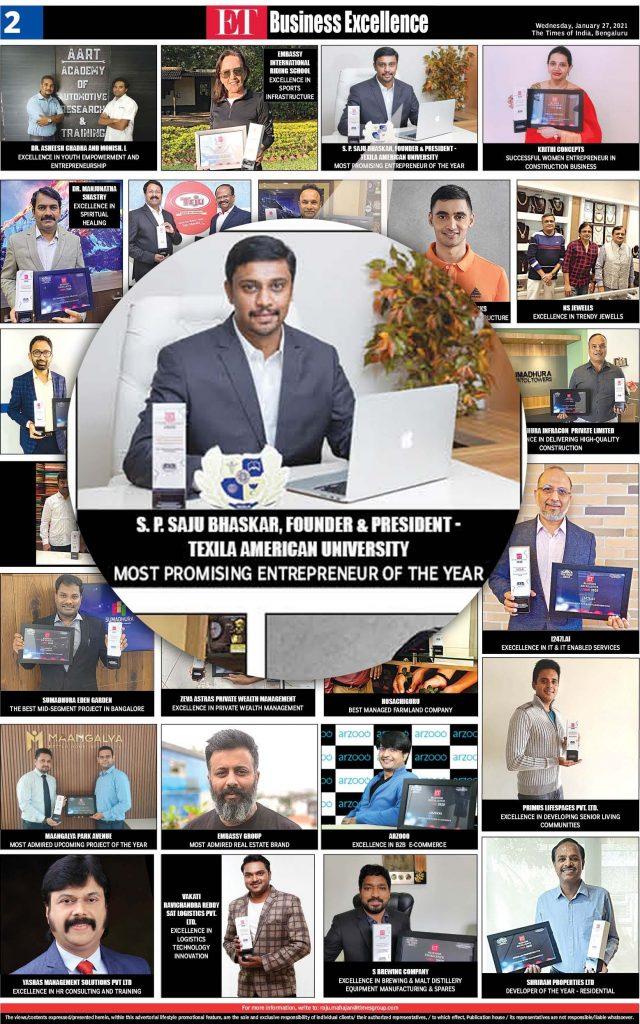 Economic times award 2020